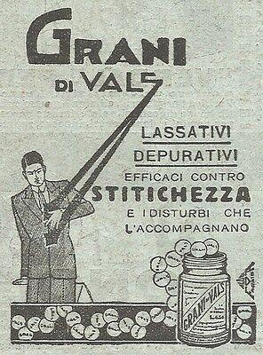 W2395 Grani di Vals - Lassativi - Pubblicità del 1930 - Vintage advertising