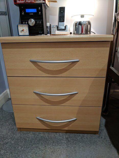 Bedside Drawer Units - High Quality Lima Natural Beech Bedroom Furniture