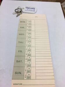 500 STANDARD PUNCH CARDS / MONDAY-SUNDAY/ TIME CARDS /