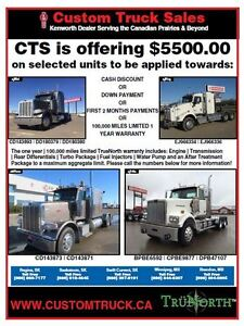 CTS Kenworth Used Truck Special Saskatchewan & Manitoba