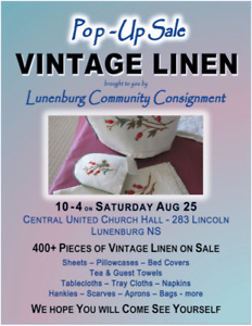 Pop-Up Vintage Linen Sale