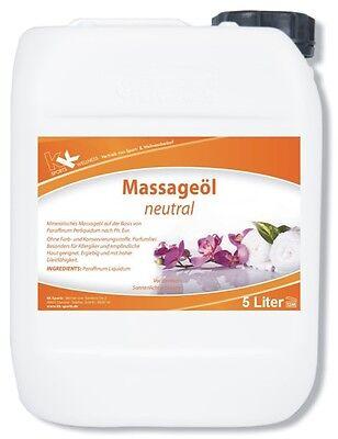 KK Massageöl Neutral 5 Liter Massage Öl Entspannung Lotion Physiotherapie Öl