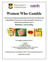 LOOKING FOR FEMALE PARTICIPANTS FOR RESEARCH STUDY ON GAMBLING