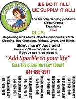 The Cleaning Lady!! Adding sparkle to your life!!
