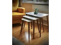 Brand new coffee table white granit effect
