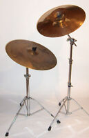 Cymbals and stands
