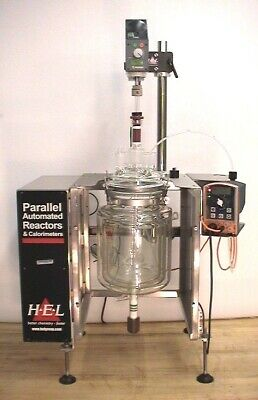 Hel Triple Walled Jacketed Glass Chemical Bioreactor