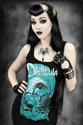 Restyle T-Shirt  Dracula Full Moon Vampire Horror Rockabilly Gothic Punk shirt