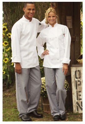 New Baggy Chef Pants, Color: Houndstooth, Size: 3XL, Zipper Fly - 4012