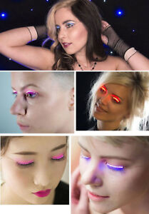 Light Up LED EYELASHES! In 6 different colours!