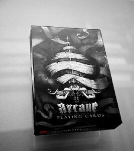 BLACK ARCANE Ellusionist  Deck Bicycle Playing Cards Magic Tricks New Sealed