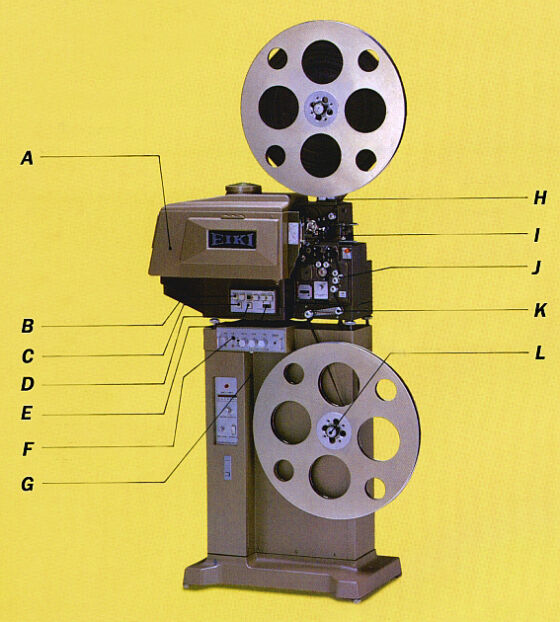 EIKI EX-6120 Professional 16mm Sound Opt/Mag Projector w/1000 Watt Xenon