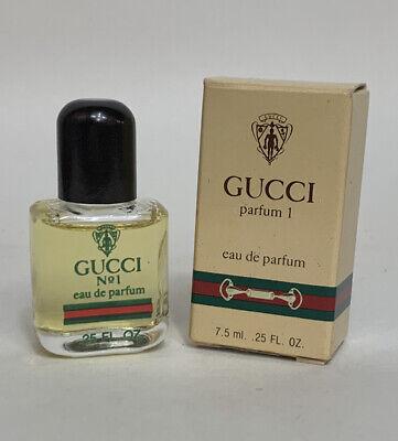 Vintage Gucci Parfum 1 .25 Oz Eau de Parfum New in Box Old Stock