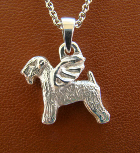 Sterling Silver Wheaten Terrier Angel Pendant
