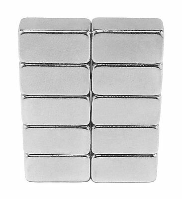 12 X 14 X 14 Inch Neodymium Rare Earth Bar Magnets N48 10 Pack