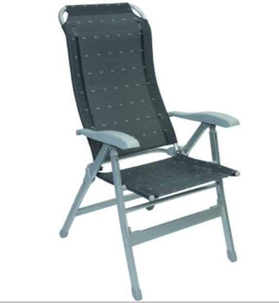 Campingstuhl Venice Stuhl 7 Sitzpositionen robust Alumi…  