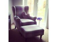 Next Sherlock Armchair and Footstool