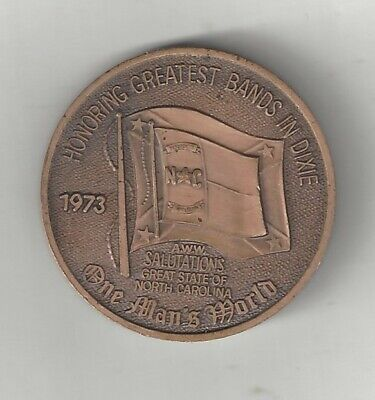 1973 NORTH CAROLINA STATE CONFEDERATE STATES REBEL FLAG CSA COIN MEDAL DIXIE CSA Rebel Confederate Flag