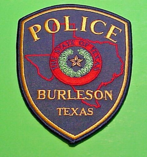 "BURLESON  TEXAS  TX  5""  POLICE PATCH  FREE SHIPPING!!!"