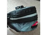 Racing bike, cycling accessories mens size 11 shoes and saddle bag