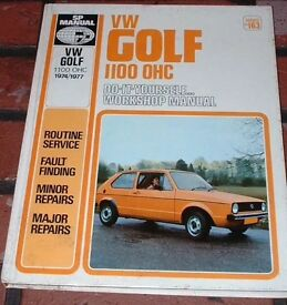 Manual for Early Mk1 Golf