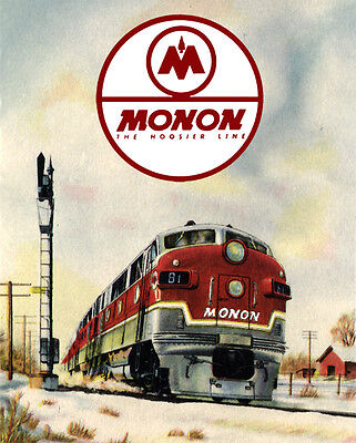 Monon Railroad Train Metal Sign
