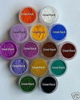LOT of 14 1g ALL MATTE SAMPLE Soap Pigment Oxide Titanium Ultramarine Powder