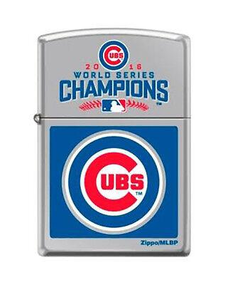 Zippo 2016 Chicago Cubs World Series Champions High Polish Chrome Lighter MLB