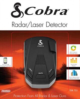 COBRA ESR-755 12-Band 360 Degree Radar Laser Police Detector 5 Level Signal New