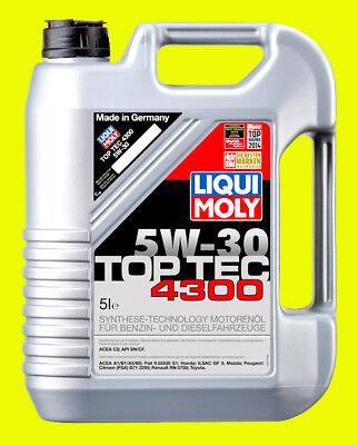 LIQUI MOLY Motoröl Top Tec 4300, 5W-30, 5-Liter - Art.Nr. 3741 - ACEA C2