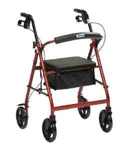 BRAND NEW Lightweight Rollator 4 Wheel Walker Mobility Walking Disability Aid