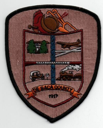 NEW MEXICO NM DE BACA COUNTY PATCH NOT POLICE OR SHERIFF NICE