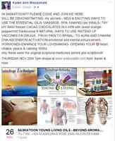 essential oils youngliving !! massage, desserts no vaccines choc