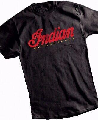 Indian Logo Black Motorcycle Short Sleeve T-Shirt AHRMA Metro Racing - NEW