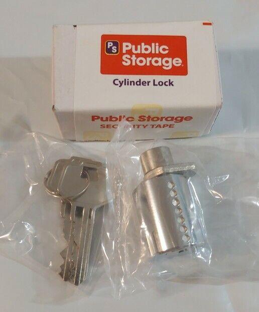 NEW Public Storage Cylinder Lock with 2 keys