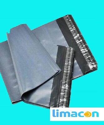 50 GREY STRONG POLYTHENE MAILING POLY POSTAL SELF SEAL BAGS 6