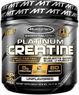 Muscle Tech Platinum 100% Polvo De Creatina Ultra Puro 80 Porciones Sin Sabor