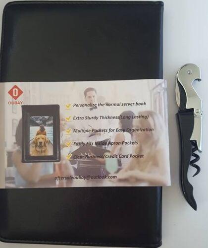 Black Waiters Server Book/Organizer Order Pad  Money Holder Check Presenter