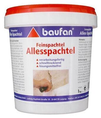 Baufan Feinspachtel 1kg Allesspachtel lösungsmittelfreie Spachtelmasse