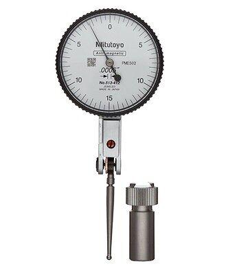 Mitutoyo 513-412-10e Horizontal Type Dial Test Indicator .030 Range .0005