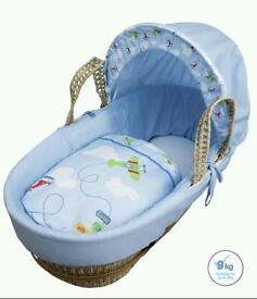 Kinder valley come fly with me moses basket : blue : All brand new in sealed packs. Full gurantee .