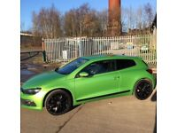 VW Scirocco in Viper Green, great condition & full leather interior with heated seats