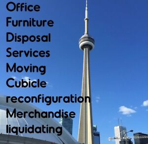 LIQUIDATION SERVICES, CUBICLE WORK STATIONS, OFFICE FURNITURE ++