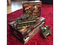 Forces of Valour German Tiger 1:24 Remote Control tank and battle beam anti tank IR senors.