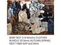 BABY BOYS CLOTHES BUNDLE 3-6 Months