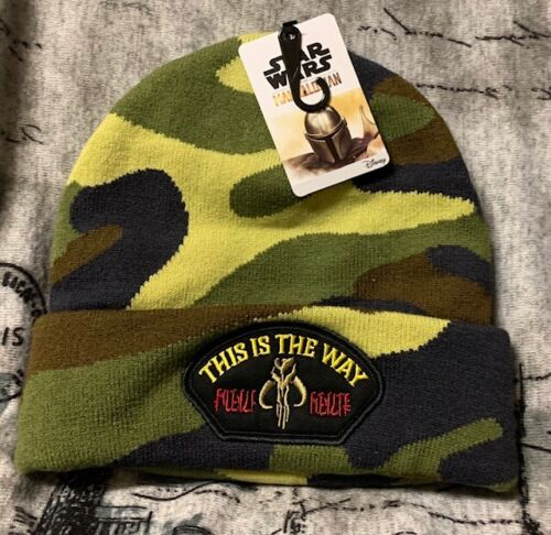 Star Wars The Mandalorian embroidered Patch on Beanie Cap NWT Official Item!