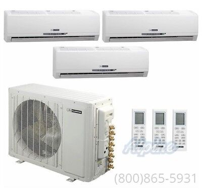 Blueridge 3 Zone Ductless Mini-Split AC with (3) 9k wall units