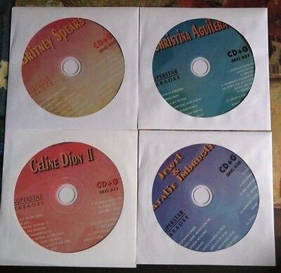4 CDG KARAOKE DISCS 1990'S FEMALE POP OF JEWEL,CELINE DION,BRITNEY SPEARS CD+G Celine Dion Karaoke Disc