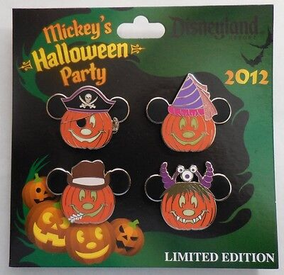 Disney Pin DLR Mickey Halloween Party 2012 Jack Laternen Set 4 Pins LE1000