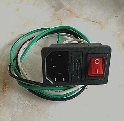 Assembled Power Socket With Fuse And Wires Switch 3 Pin Iec320 C14 Usa Plug